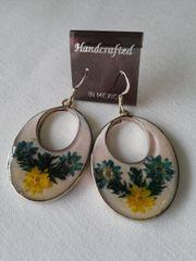 White Wildflower Earrings