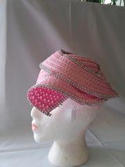 Pink Soft Straw Wrap-Around Hat