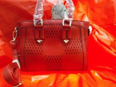 Red Cut Out Handbag