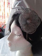 Silver Flower Headband