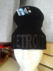 Black on Black Detroit Knit Cap 5878