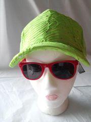 Neon green mesh ballcap