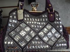 Purple Rhinestone Purse #3219