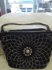 Black Rhinestone Purse #3223