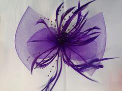 Purple Fascinator with Mesh #3629