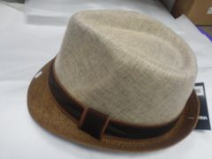 2 Tone Brown Men Fedora #M11