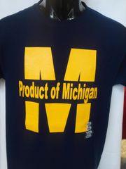 Navy Product of Michigan Shirt #4005
