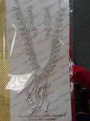 Rhinestone Necklace Set #3056