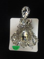 Large Clear Brooch Pin