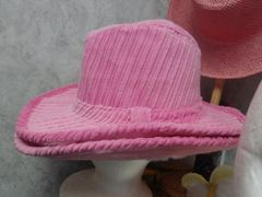 Pink Corduroy Hat 5871