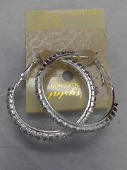 Clear Rhinestone Hoop Earrings