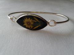 Black Wildflower Bracelet