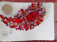 Red Brooch Pin #2906