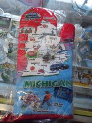 Michigan Mitten-Red/Blue
