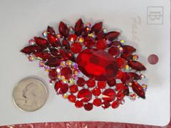 Red Brooch Pin #2907