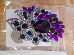 Purple Brooch Pin #2909