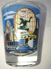 Detroit 1 Shot Glass #1450