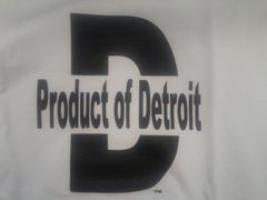 White/Black Product of Detroit 4015