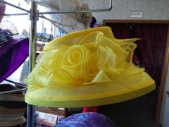 Med Yellow Dress Hat #2833