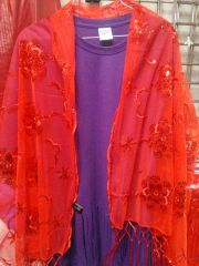 Red Sequin Shawl 5811