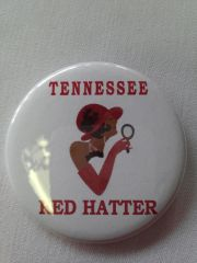 Tennessee Red Hatter Button-B