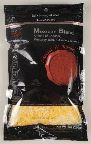 Mexican Blend Cheese Shredded - Natural & Kosher