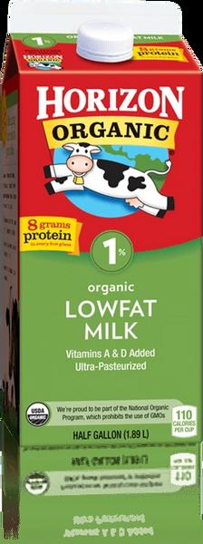 Horizon Organic 1% Lowfat Milk Half Gallon