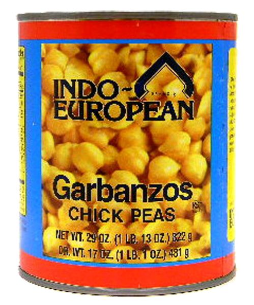 Indo-European Garbanzo Chick Peas 29 oz