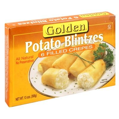 Golden Potato Blintzes