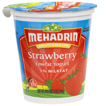 Mehadrin Low Fat Strawberry Yogurt 7 oz