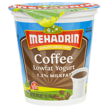 Mehadrin Lowfat Coffee Flavor Yogurt