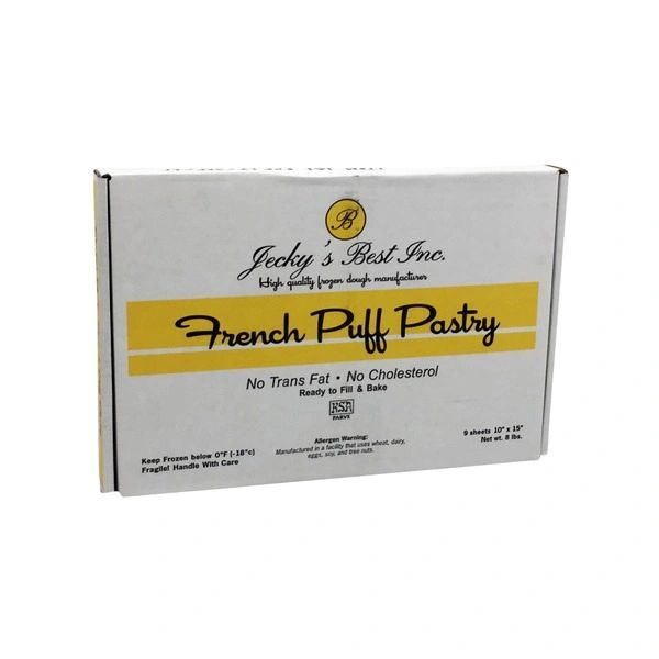 Jecky's Best French Puff Pastry 2 Sheet Rolls 1 lb