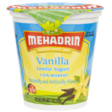 Mehadrin Low Fat Vanilla Yogurt