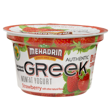 Mehadrin Greek Yogurt Strawberry 6 oz