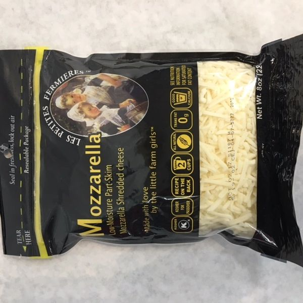 Mozzarella Cheese Shredded 8oz - Natural & Kosher