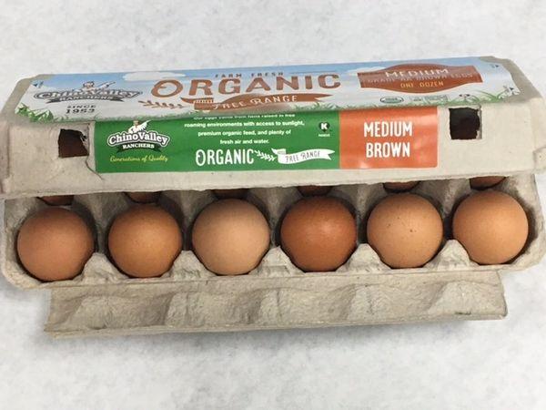 Eggs Grade AA Organic 1 Dozen