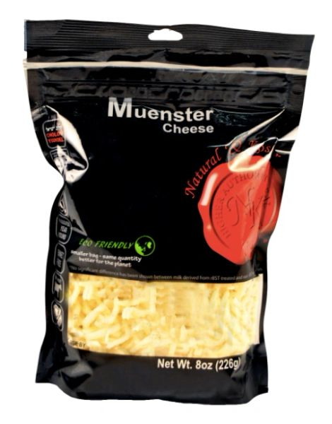Muenster Cheese Shredded - Natural & Kosher