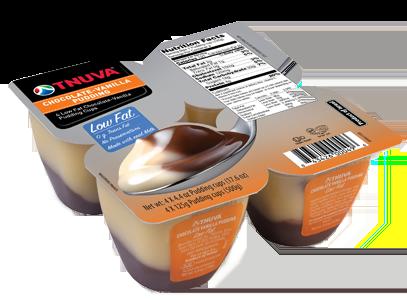 Tnuva Chocolate-Vanilla Pudding 4 ct