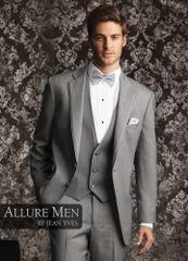 Allure Men Heather Grey 'Bartlett' Tuxedo C997
