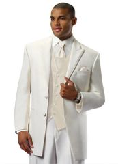Ivory 'Lexington' tuxedo coat by Chaps Ralph Lauren C956