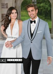 IKE Behar Evening powder blue 'Valencia' slim fit tuxedo C1024