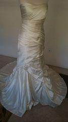 Casablanca Bridal style 2037 size 14 Ivory satin strapless wedd
