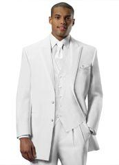 White 'Lexington' tuxedo coat by Chaps Ralph Lauren C955