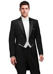 black peak full dress tailcoat by PM C998
