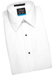 White Modern fit Turndon collar Shirt STAF