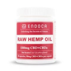 Endoca RAW Hemp Oil Capsules 1500mg of CBD+CBDa (15%)