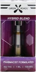 Green Roads Hybrid Blend Vape Cartridge 100mg