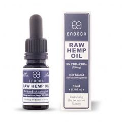 Endoca RAW Hemp Oil Drops 300mg CBD + CBDa (3%)