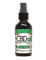 PlusCBD 2oz Extra Virgin Olive Oil Peppermint Spray 500mg