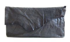 Charcoal Lambskin Clutch